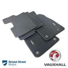 Genuine OE Vauxhall Corsa D/MK3 Black Tailored Velour Front/Rear Carpet Mats