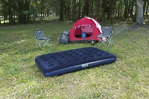 Inflatable Sleeping Sofa Double Flocked Air Bed Matress Guest Camping Hiking New
