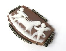 A Lovely Vintage Sterling Silver 925 Cameo Marcasite Brooch A/F #21502
