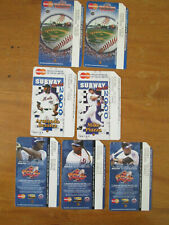7 Nyc Metrocard Ny Mets 2000 Subway series Nlcs champlions Piazza 2005 Benitez