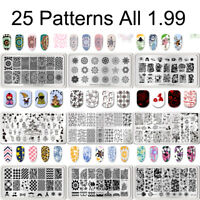BORN PRETTY Nail Stamping Plates Animal Flower Patterns Nail Art Image Templates