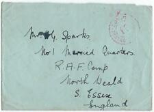 UK GB EGYPT 1935 POSTAGE PREPAID RE SEAL LETTER STAMP ON REVERSE ALEXANDRIA TO