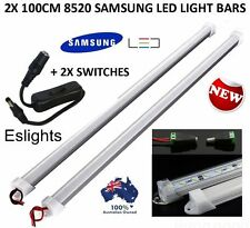 2X 1M 12V DC 8520 LED STRIP LIGHT BAR CAMPING CARAVAN CAMPING BOAT TENT AWNING
