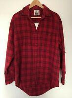 LF Furst of Kind Vintage Lace Up Plaid Flannel Shirt (Red/Black) Rare Item