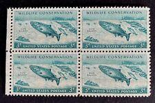 US Stamps, Scott #1079 Wildlife Conservation 3c Block of 4 XF M/NH. Fresh.