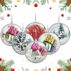 20-50Pcs Clear Baubles Plastic Craft Ball Balls Christmas Decoration Party Xmas