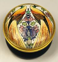 Staffordshire English Enamels Two Birds Screw Top Small Trinket Box