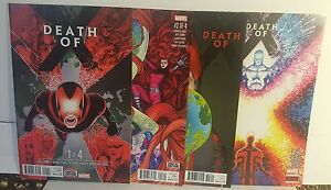 DEATH OF X  #1-4 (COMPLETE FOUR BOOK SET) FIRST PRINT VF+