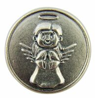 """Don't Drink and Drive"" 1 1/8 Inch Silver Tone Guardian Angel Token"