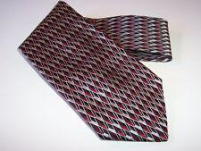 Jos. A. Bank Designer Tie Men's Silk Necktie Made in Italy Geometric 3-D Design