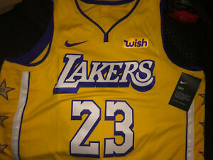 New Men's Nike Lakers LeBron James #23 Swingman Jersey-City Edition New w/tags