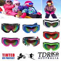 NEW Boy Girl Kid Ski Goggles UV400 Anti-fog Skiing Unisex Snow Snowboard Goggles