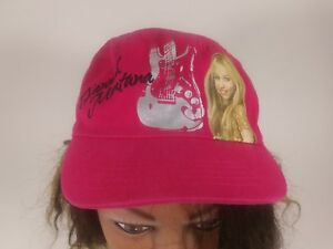 Hannah Montana Miley Cyrus Disney Fuschia Fitted Hat