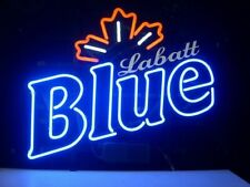 "New Labatt Blue Maple Neon Light Sign 17""x14"" Beer Gift Bar Real Glass Artwork"