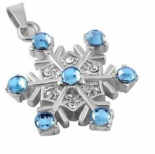 Stainless Steel Snowflake Cremation Pendant Urn Jewelry FREE SHIPPING         BC