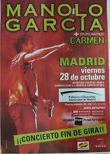 MANOLO GARCIA MADRID PROMO POSTER 90cm X 140cm MUY RARO