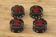 Knobs Negros Speed  Skull  Black  6mm. Hole Boutons Knöpfe Potenciometro