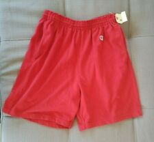 Mens Champion Vintage Athletic Shorts Red Size L 36-38
