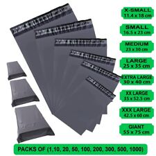 More details for grey postal post packaging bags plastic parcel mailing packing postage self seal