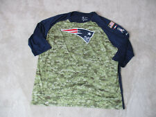 NIKE New England Patriots Shirt Adult 3XL XXXL DriFit Salute To Service Football