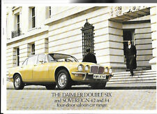 DAIMLER DOUBLE-SIX & SOVEREIGN 4.2 & 3.4 FOUR DOOR RANGE SALE BROCHURE 1975 1976