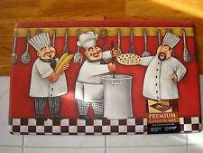 Pvc Foam Anti Fatigue  Kitchen Floor Mat Rug 18x30 3 Chef Trio PIZZA Utensil POT