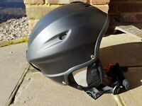 White Rock. Ski helmet. Vulcan. Matt Black. Large 57-58cm