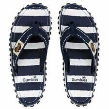 GUMBIES Islander Zehentreter Schlappen Strandlatschen Sandalen blau/weiss - NEU