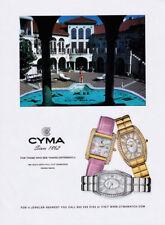 Cyma watch print ad 2004 3 colors