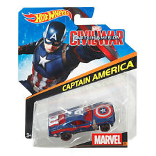 Hot Wheels Marvel Civil War 1:64 Scale Die-Cast Vehicle: #29 CAPTAIN AMERICA