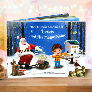 Premium Personalised Xmas Story Book for Children - Santa Claus  - HARDBACK