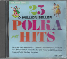 """VARIOUS ARTISTS  """"25 Million Seller Polka Hits Vol. 2""""  NEW SEALED POLKA CD"""