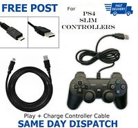 2m Long Charger Charging Lead Cable For PlayStation PS4 Slim Wireless Controller