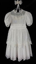 WHITE GIRLS 1ST HOLY COMMUNION DRESS SZ 7 WEDDING~EASTER~FORMAL~PARTY~LACE