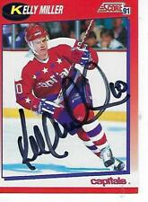 KELLY MILLER SIGNED 1991-92 SCORE (CANADIAN) #81 - WASHINGTPON CAPITALS