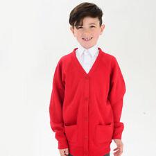 Pulls et cardigans rouges en polyester pour garçon de 2 à 16 ans