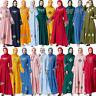 Embroidery Abaya Women Muslim Maxi Dress Vintage Islamic Dubai Jilbab Robe Gown