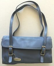 Tignanello Ice Blue Leather With Magnetic Snap Purse Bag