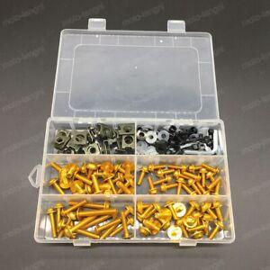 For Suzuki GSXR600 GSXR750 GSX-R1000 GSR750 Complete Fairing Bolt Kit Screws