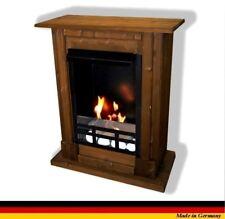 Chimenea Caminetti Fireplace Cheminee Etanol y Gel Madrid Premium Royal Nogal