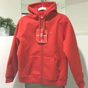 UNUSED SUPREME 18FW WINDSTOPPER Zip Up Hooded Sweatshirt Parka Red