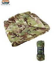 BTP Camouflage Kids Army Super Soft Snuggly Fleece Blanket 150 x 100 cm Camo