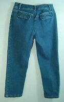 Wrap Waist Mid Rise Straight LIZ CLAIBORNE LIZWEAR Distressed AUDRA Jeans! 6P