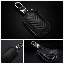 Smart Key Holder Cover Car Key Chain Bag Genuine Leather Remote Fob Zipper Case
