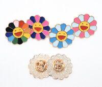 New TAKASHI MURAKAMI Kaikai Kiki Flower Lapel Pin Multi Complexcon Chicago
