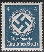 Stamp Germany Official Mi 133 Sc O81 1934 WWII Dienst War 3rd Reich War Era MH