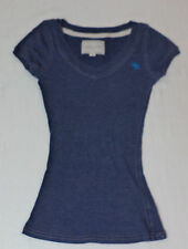 Abercrombie & Fitch Short Sleeve Blue V-Neck Top      Size M        F468