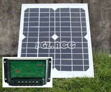 10W 12V solar panel battery charger for motorhome, caravan, camper, boat, car UK