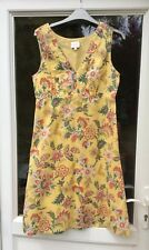 EAST COTTON FLORAL PRINT DRESS YELLOW UK 8