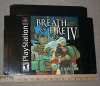 "Breath Of Fire IV PS1 Promo Oversize 10"" Display Box RARE Capcom"